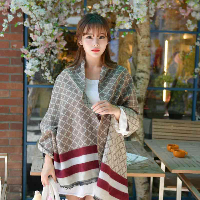Winter Fashion Scarf Luxury Brand Women font b Tartan b font Patchwork Blanket Scarf Casual Cashmere