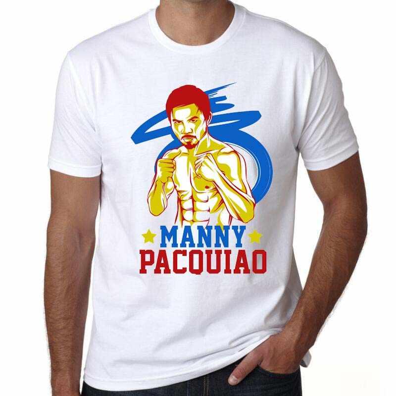 Мужская модная трендовая футболка MVP Manny Pacquiao MP боксерская футболка с круглым вырезом и короткими рукавами, модная футболка ММА, Филиппины, Swag