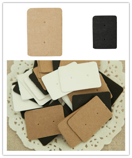 Tag Earring Jewelry Stud-Hang-Tag Display-Card Kraft-Paper Paper-Hang Price-Tag 50pcs