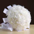 Wedding Bouquet 2017  In Stock  Bridesmaid Rose Pearls Artificial Flowers   Handmade   Bridal Bouquets