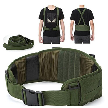 Tactical Molle Belt Men's Army Special 1000D Nylon military belt Convenient combat Girdle EAS H-shaped Adjustable Soft Padded 1