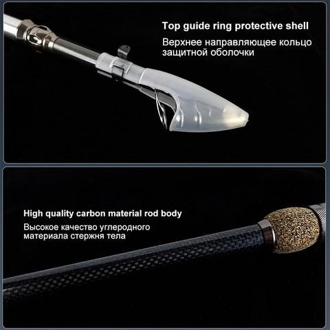 pesca equipamento superhard fiacao vara de pesca telescopica