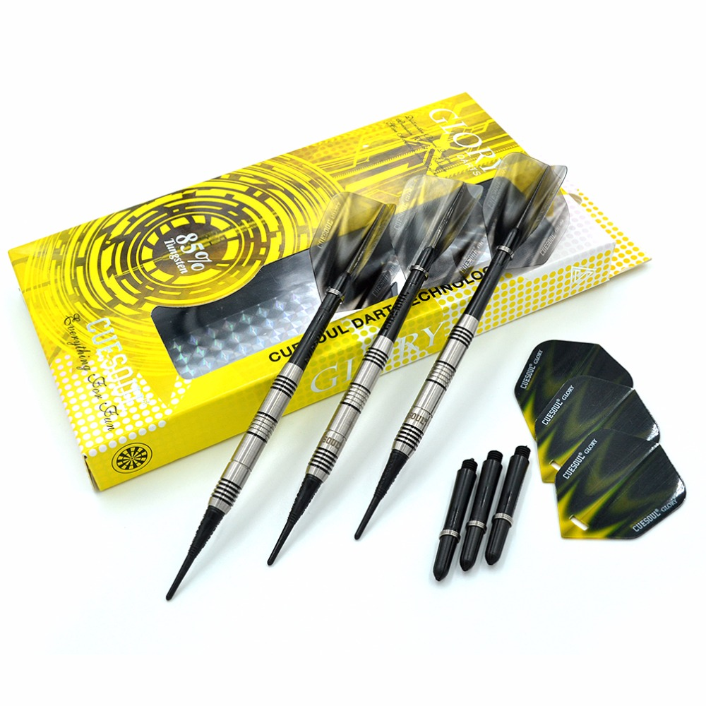CUESOUL GLORY 85 Tungsten 16g Soft Tip Dart Set With Black Soft Tips