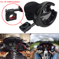 Universal Black Motorcycle Handlebar Cup Holder For Harley Honda Yamaha Kawasaki Suzuki 7 8 22MM Handlebars