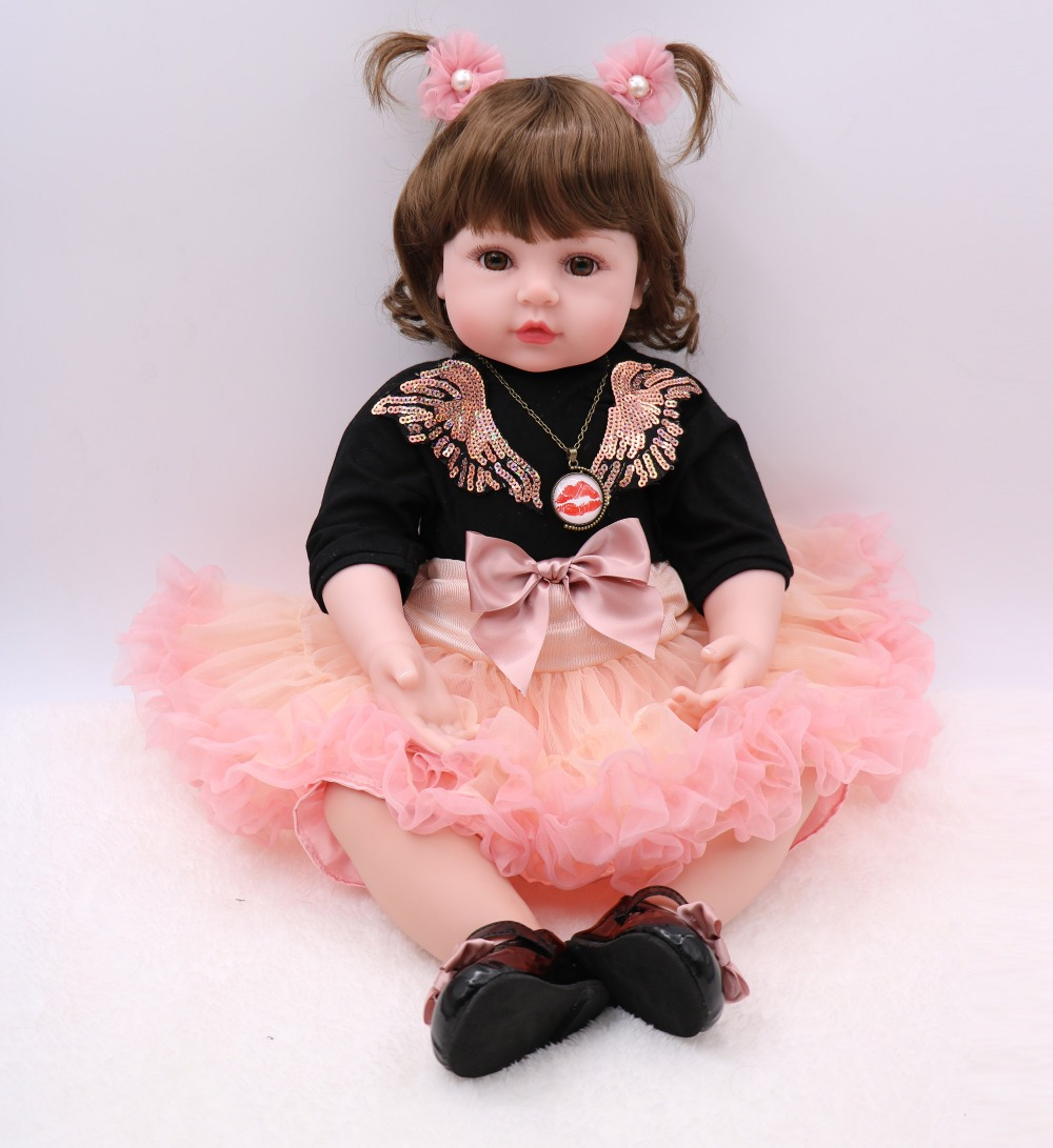 60cm Silicone Reborn Baby Dolls Baby Alive Realistic Bonecas Lifelike Real Girl toddler Doll Bebes Reborn Birthday gift60cm Silicone Reborn Baby Dolls Baby Alive Realistic Bonecas Lifelike Real Girl toddler Doll Bebes Reborn Birthday gift