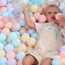 50/100 шт Экологичный красочный мяч мягкий пластиковый Океанский шар Забавная детская игрушка для плавания бассейн океан волнистый шар диаметром 5,5 см