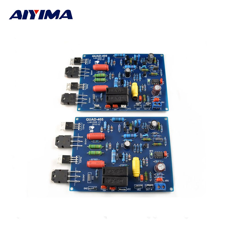 Assembled QUAD405 Audio Power Amplifier Board  2 channels DIY KIT finished Boards