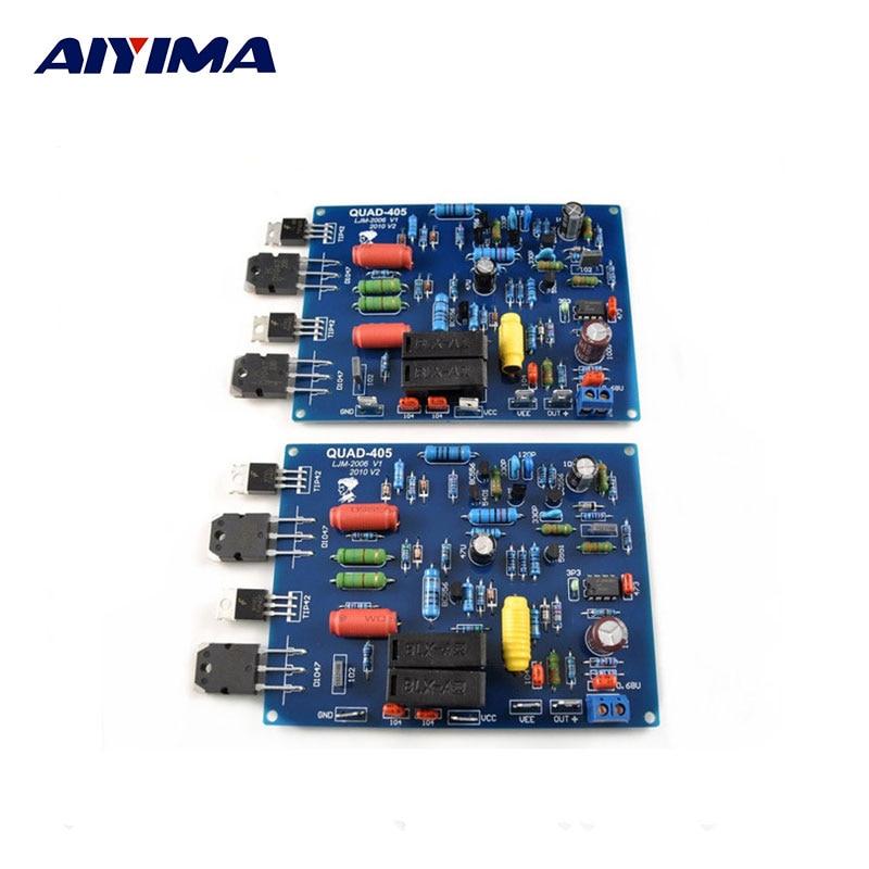 Assembled QUAD405 Audio Power Amplifier Board  2 channels DIY KIT finished Boards 2 channel l20 se power amplifier finished board transistor amplifier kit a1943 c5200 350w 350w