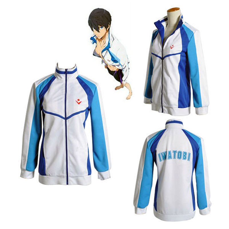 Anime Free! Iwatobi Swim Club Haruka Nanase Cosplay Costume Jacket Unisex Hoodie High School Sprot Wear hoodie