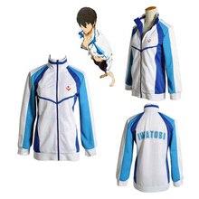 Anime Gratis! Iwatobi Haruka Nanase Cosplay Kostuum Jacket Unisex Hoodie Hoge School Sportkleding