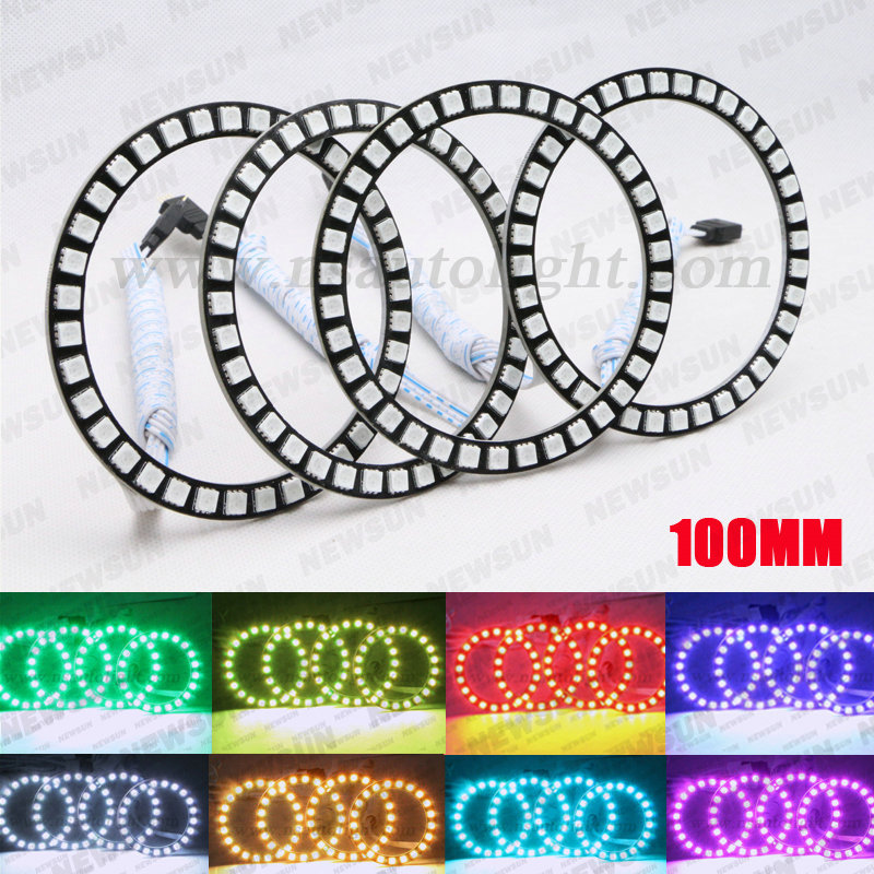 Free shipping Fit for all car angel eyes headlight, 36Leds 5050SMD 100mm DIA RGB SMD Ring Angel eye led 12V free shipping fit for all car angel eyes headlight 36leds 5050smd 100mm dia rgb smd ring angel eye led 12v