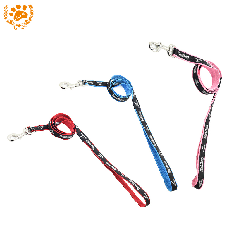 My Pet 120x2CM Dog Leash For Dogs 3 Colors Nylon Material Pet Dog Collar Attachment Creative Hole Aluminum Buckle VC17-LH004