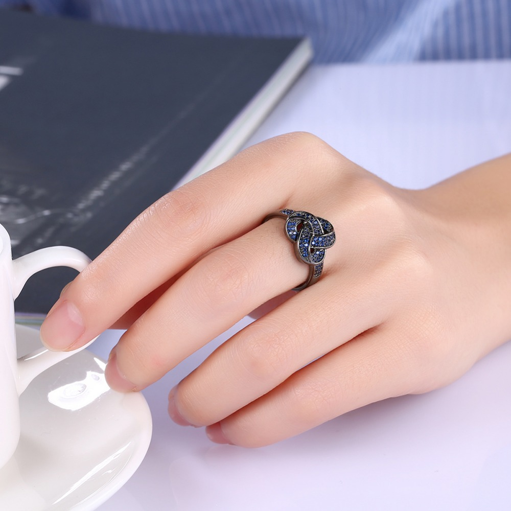 HIYONG Promise Ring for Her Love Infinity Knot Stacking Jewelry ...