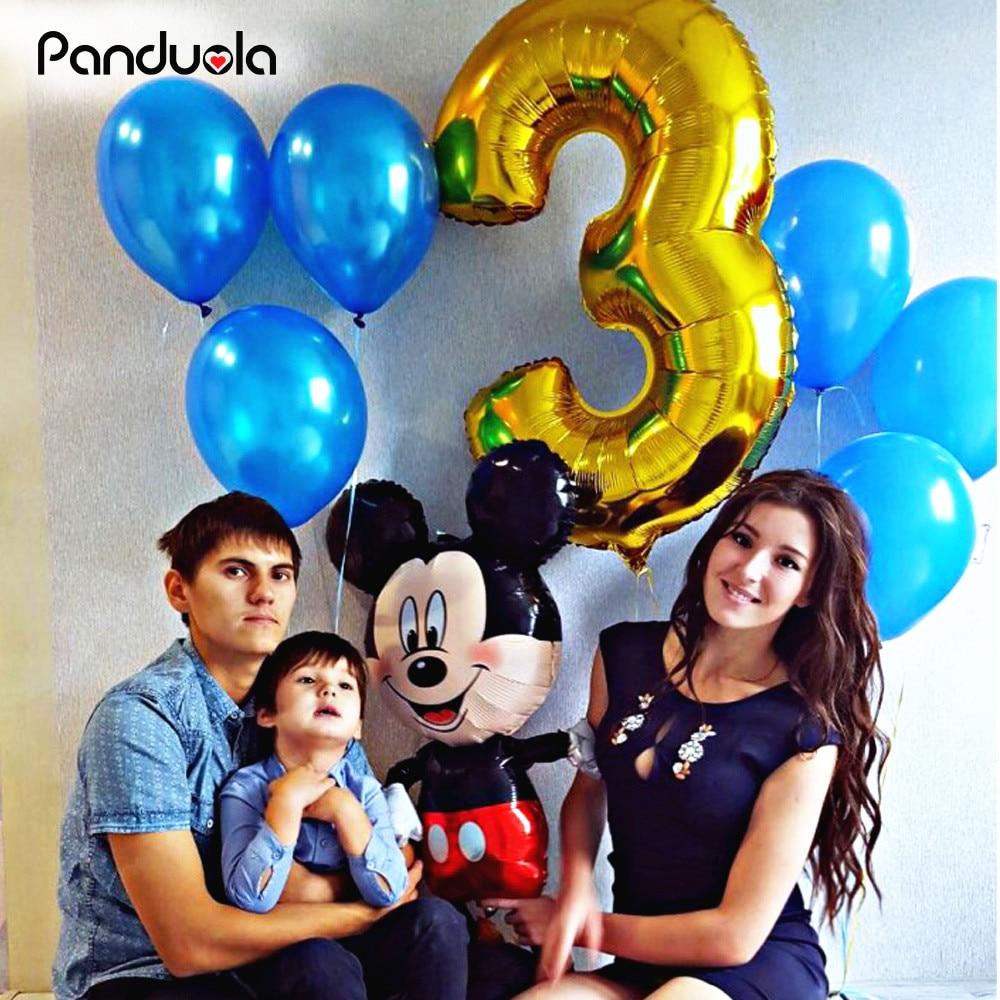1 pcs 40 Inch Gold Balloons Figue 0-9 नंबर पन्नी बालन जन्मदिन मुबारक बाबुल के लिए नया साल हीलियम Inflatable बैलोन गेंदों