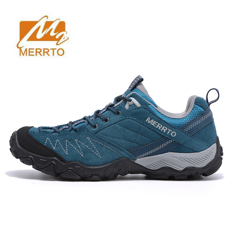 MERRTO Men's Winter Leather Outdoor Hiking Trekking Sneakers Shoes For Men Sports Climbing Mountain Shoes Sneakers Man humtto new hiking shoes men outdoor mountain climbing trekking shoes fur strong grip rubber sole male sneakers plus size