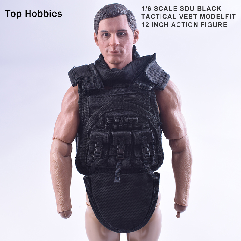 1:6 Scale Accessories For Doll ClothesDragon DML Male Vest Model SDU Bk Tactical Special Forces Toy F 12
