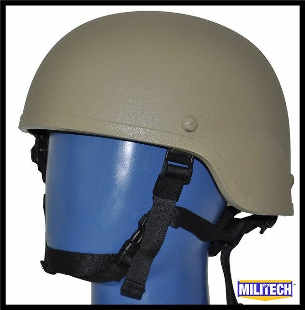 LVL IIIA Tan Mich 2000 Bullet Proof Helmet / Mich Safety helmet / Dupont Kevlar Bulletproof Mich 2000 Helmet With Test Report