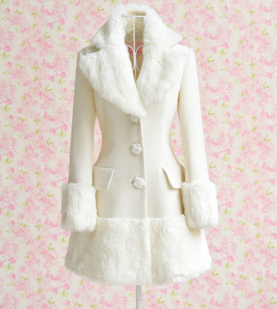 Aliexpress.com : Buy White Fur Collar Winter Coat 2017 Dabuwawa ...