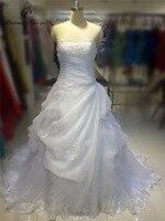 Poemssongs באיכות גבוהה יפה עם שמלת חלוק דה mariee mariage שמלות כלה שרוולים קצרים מעיל שמלת כלה כלה
