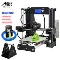 Анет A6 3D принтеры комплект 3D принтеры Наборы Reprap i3 DIY для самостоятельной сборки 3D Printer Высокая точность с большой рабочей поверхностью ЖК ди