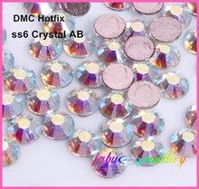 Free Shipping! 1440pcs/Lot, ss6 (1.9-2.1mm) High Quality DMC Crystal AB / Clear AB Iron On Rhinestones / Hot fix Rhinestones