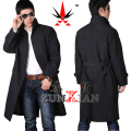 European style Spring and autumn  male long trench design casual trench liner the disassemblability Trench Coat outerwear