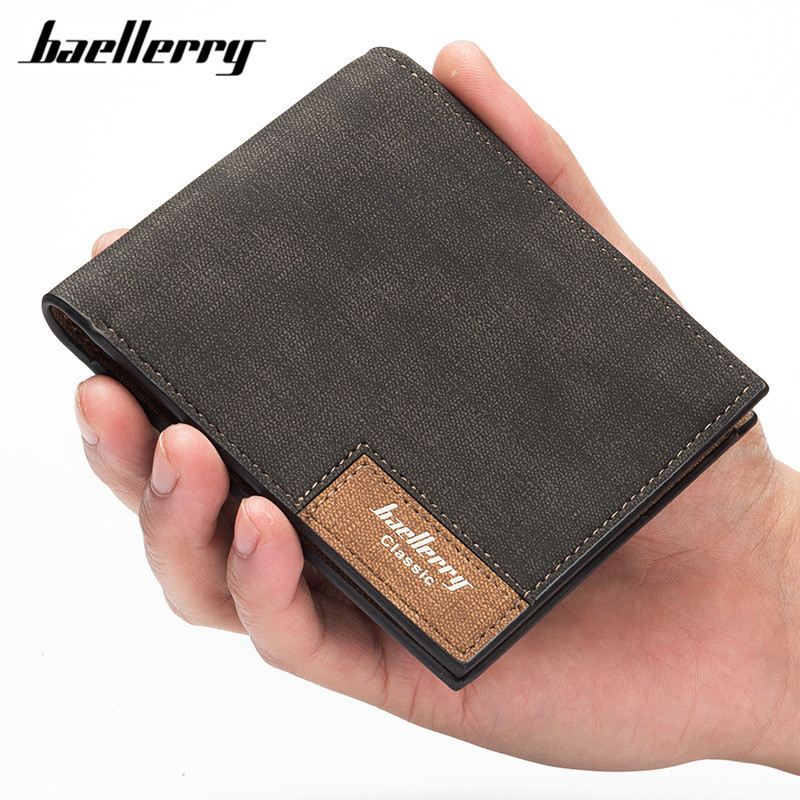 Baellerry New Stylish Men's PU Leather Slim Wallet Pockets Card Collector Bifold Purse Bag Credit Card Holder Portafoglio недорго, оригинальная цена