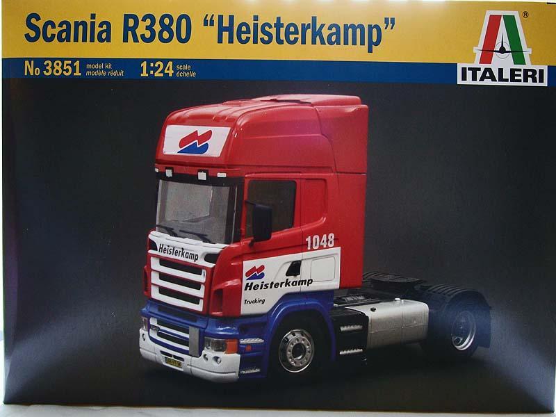 Italeri 1/24 Scale Scania R380 Heisterkamp Truck Cab Model Plastic Kit 3851 revell model 1 25 scale 85 7457 69 camaro z 28 rs plastic model kit
