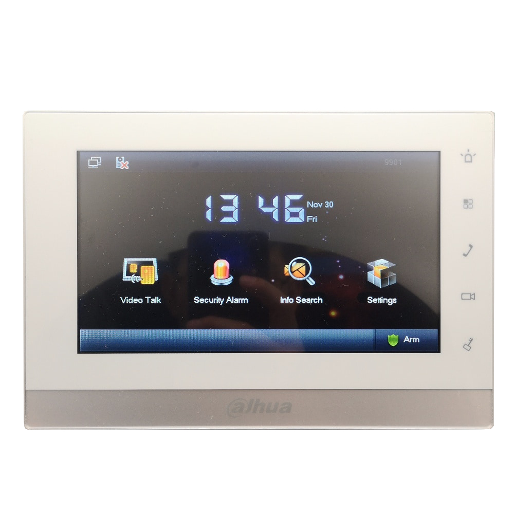 AHUA Multi Language 2 wire VTH1550CHW 2 Indoor Monitor work with VTO2000A 2 IP doorbell font