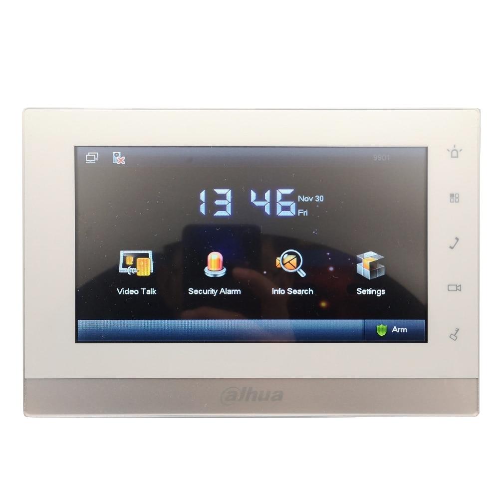 AHUA Multi-idioma 2-Alambre de VTH1550CHW-2 Monitor de interior trabajar con VTO2000A-2 IP timbre. video intercomunicador con cable timbre