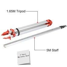Абсолютно алюминиевый штатив 1,65 м+ 5 м 5-секционный лазерный уровень для ротационного лазерного уровня