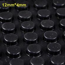 128 шт. 12 мм * 4 мм черный самоклеящиеся мягкая антипробуксовочная бамперы силиконовые резиновые ножки колодки большой кремнезема гель амортизатор