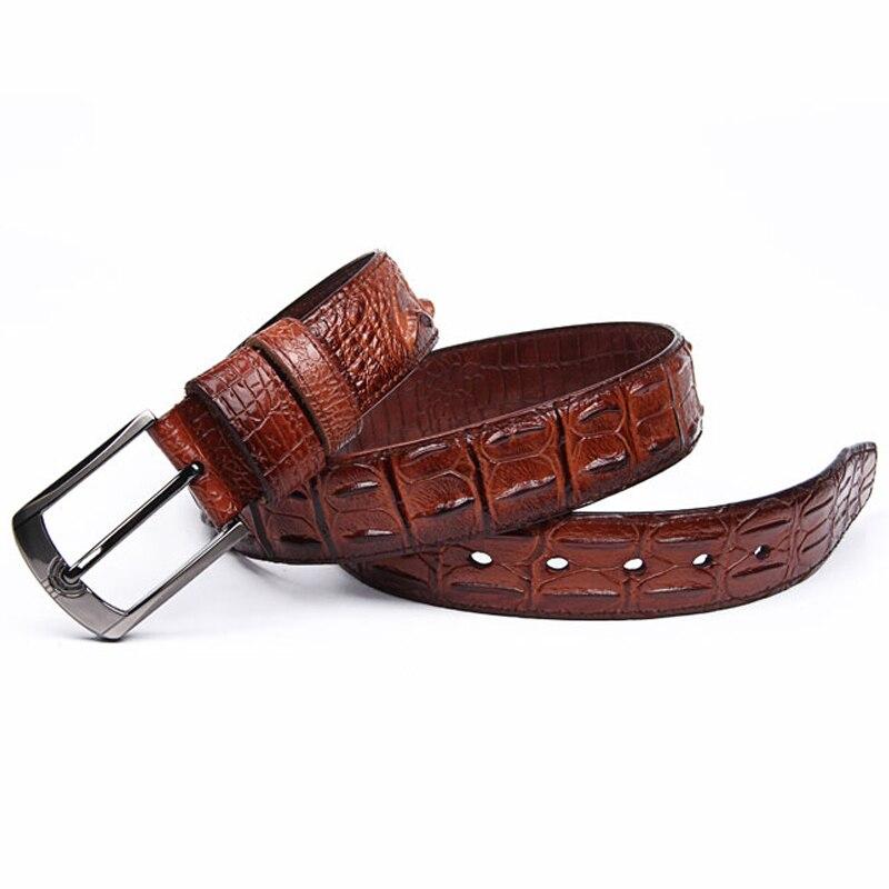 Mode Véritable ceintures en cuir pour hommes Large De Luxe Designer  crocodile Broches boucle homme ceinture Haute qualité cowskin sangle pour  les Jeans dans ... d7bb9ff0cff