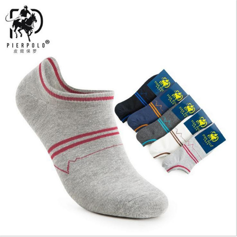 Fashion socks for men Calcetines Hombre New Summer Mens Cotton Socks Pinstripe Casual Male Boat sock 5 pairs sexy socks men