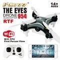 2016 Dron FQ777 954 RTF Drone RC Quadcopter Quadrocopter Los Ojos Nano WIFI Drone con Cámara 720 P FPV 6 EJES GYRO Mini Drone RTF