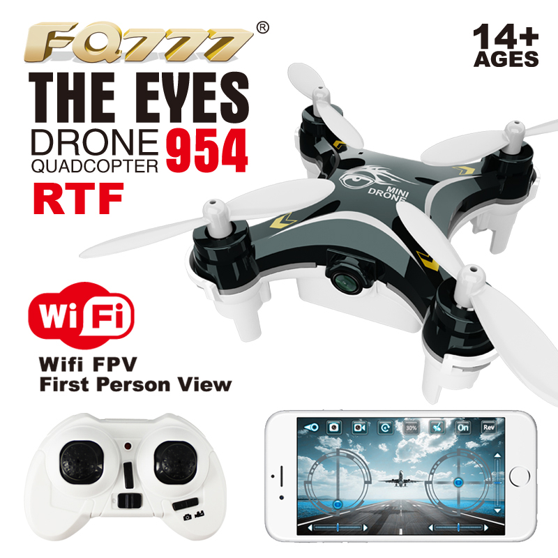 2016 FQ777 954 RTF Drone Dron Quadrocopter The Eyes RC Quadcopter Nano WIFI With Camera 720P FPV 6AXIS GYRO Mini In Remote Control Toys From