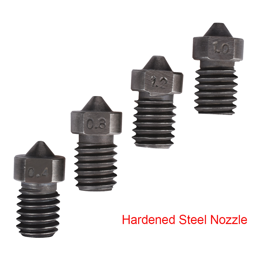 Hardened Steel Nozzle V6 Nozzle V6 J-head Hotend Kit Bowden Extruder For 3D Printer Parts 1.75MM Filament 0.4-1.5MM Nozzle V5 V6