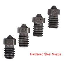 Sertleştirilmiş çelik Meme V6 Meme V6 J-kafa Hotend Kiti Bowden Ekstruder Için 3D Yazıcı Parçaları 1.75 MM Filament 0.4 -1.5 MM ...