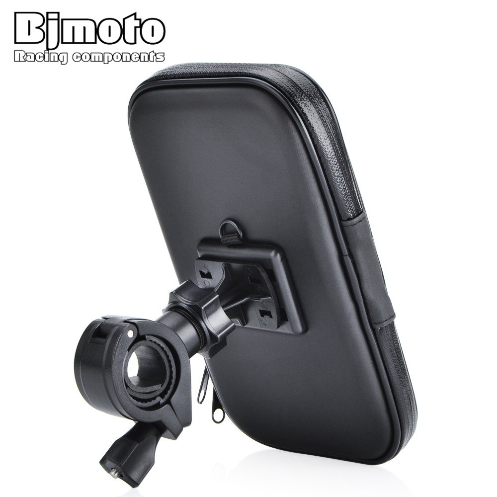 BJMOTO Universal Motorcycle Adjustable Mirror Mounting Phone Holder Charger For Mobile Phone/GPS/MP4/MP5 To Fix On Bike Bicycle