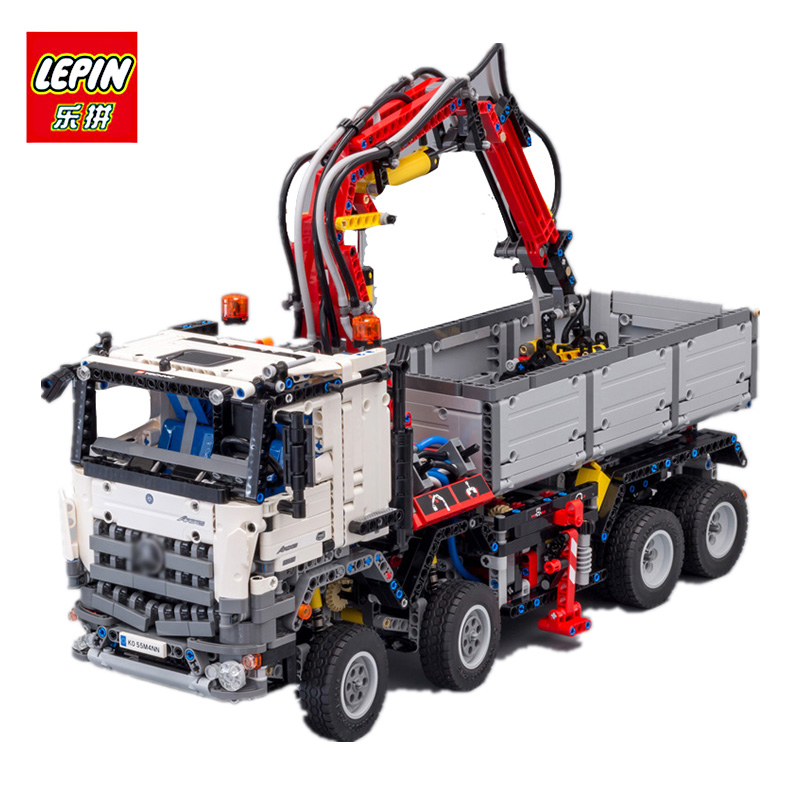 LEPIN 20005 2793Pcs technic series car-styling Model Educational Building blocks Bricks Toys Children Gift Compatible lego 42043 2793pcs technic remote controlled arocs truck 20005 building kit 3d model blocks minifigures toys bricks compatible with lego