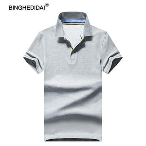 b2c303a818c BINGHEDIDAI Formal Polo Shirt Short Sleeve Casual
