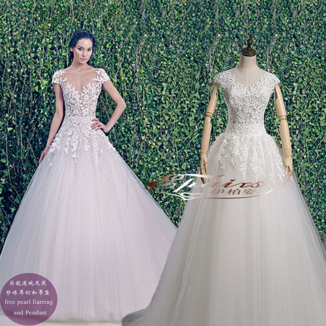 Zuhair Murad Wedding Dress.Us 189 99 2014 Free Shipping Sweetheart A Line See Through Zuhair Murad Wedding Dresses Real Sample Sexy Lace Appliqued Beaded Bridal Gown In