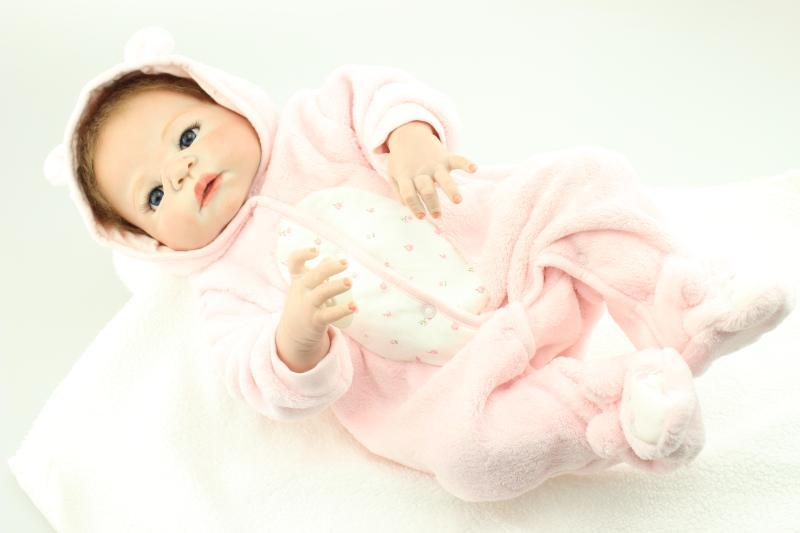 Cijeli silikonski vinil ponovno rođena dječja lutka igračke, - Lutke i pribor - Foto 3