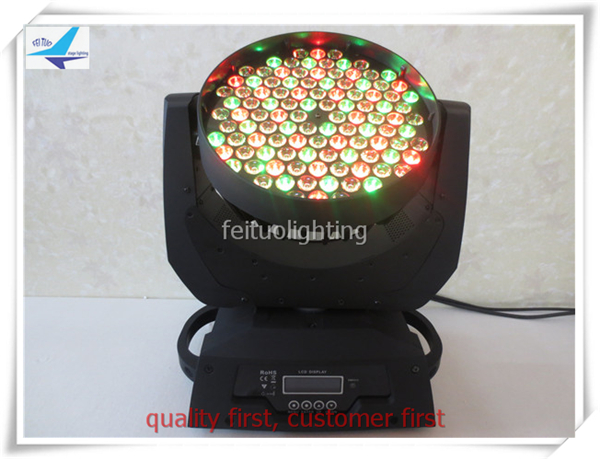 free shipping 16pcs/lot LED Stage Wash 108x3w Moving Head Light RGBW 4 Colors Change Power Lumiere Sound Mode Party DJ Lighting