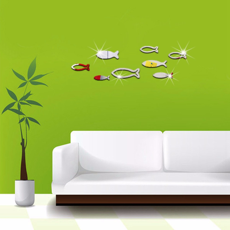 Online get cheap wall decals fish for Cheap wall mural decals