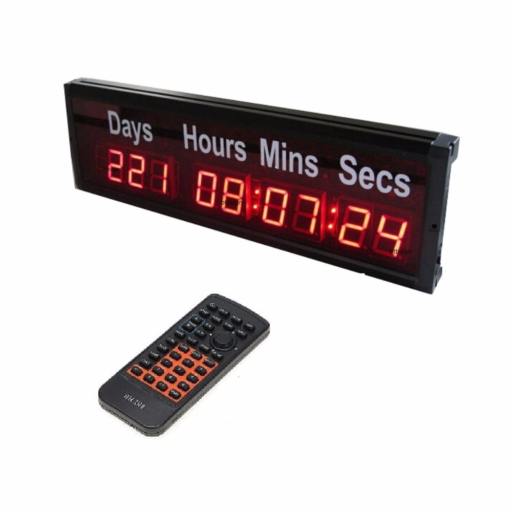 Where Can I Buy A Clock Part - 28: 1.8u0027u0027 DDD HH:MM:SS LED Large Digital Countdown Clock Event Timer