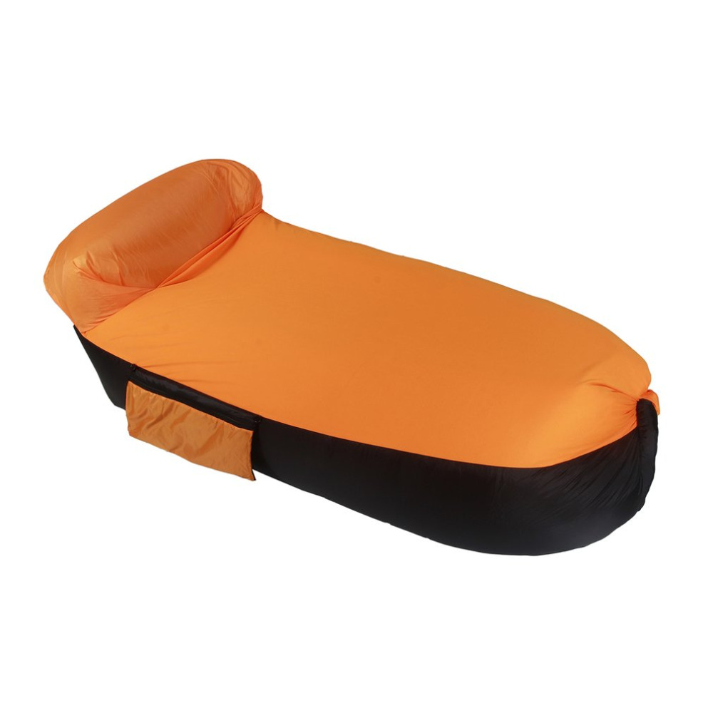Inflatable Lounger Chair with Carry Bag Fast Inflate Air Sofa Sleeping Bed Outdoor Couch ...