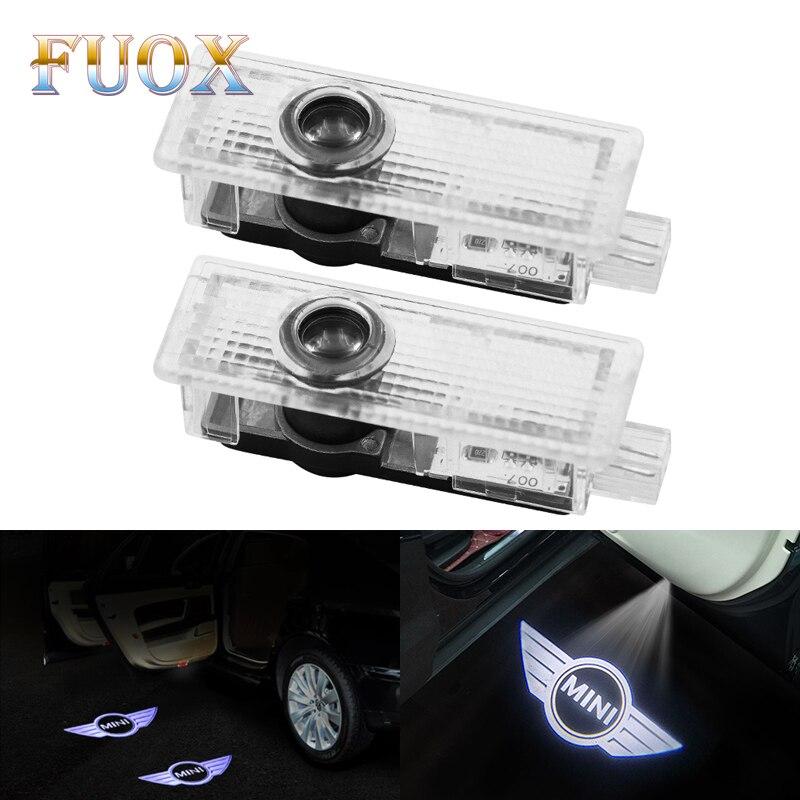 2x For Cooper R53 R55 R57 R58 R59 R60 R50 Clubman Countryman R52 JCW F55 F56 Car Courtesy Logo Light Projector LED