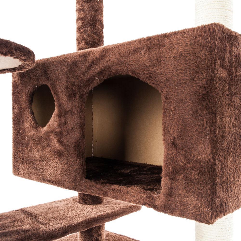 1 pièces nouveau marron mignon doux corde en peluche escalade arbre chat tour épaissi soutien créatif Durable chat tour à la mode Pet outils