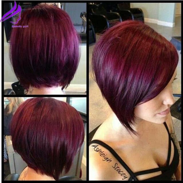Cortes cabello corto rojo